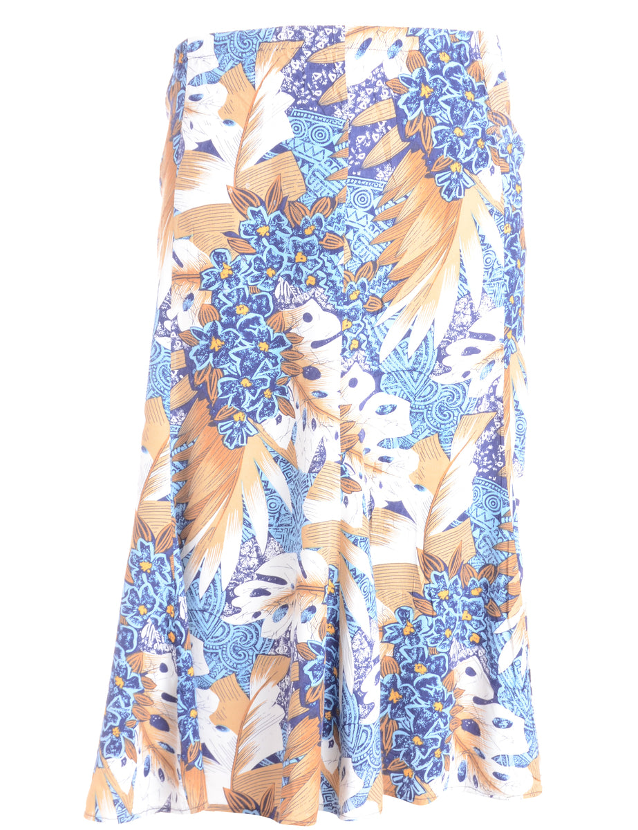 Beyond Retro Label Foliage Print Skirt