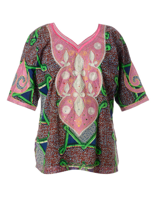 Folky Tunic Printed Top