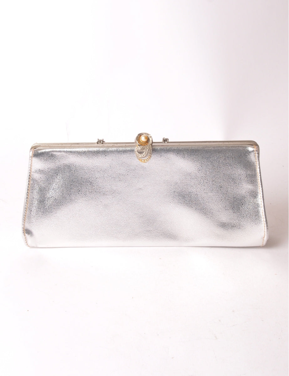 Beyond Retro Label Metallic Clutch