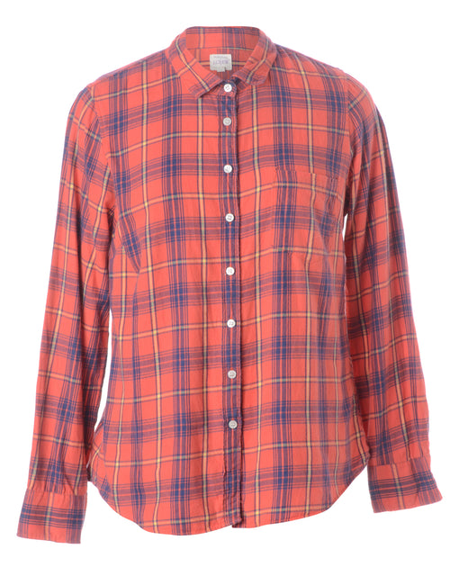 Multi Plaid Pattern Shirt