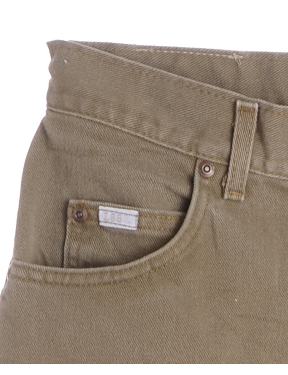 Beyond Retro Label Olive Green Lee Jeans