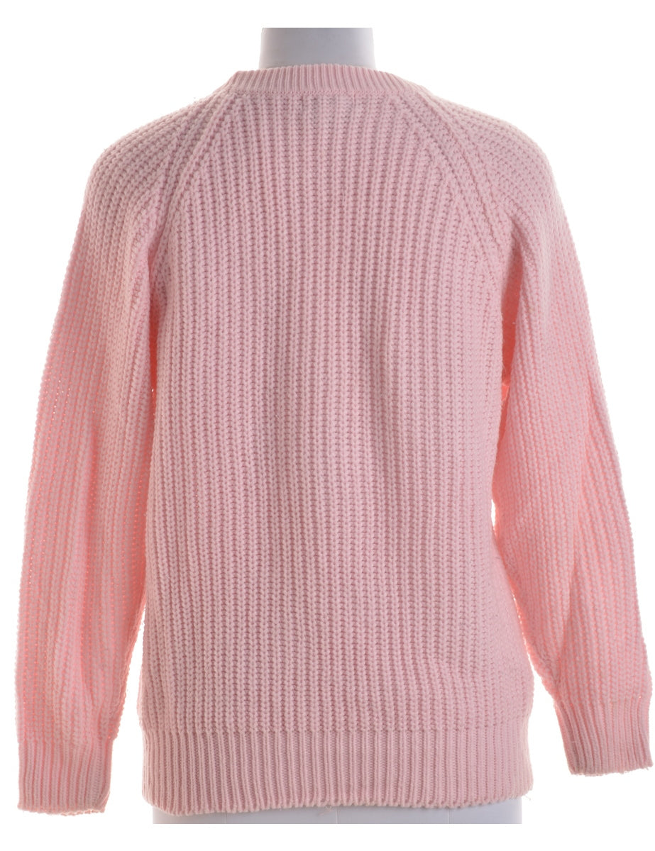 Beyond Retro Label Pink Jumper