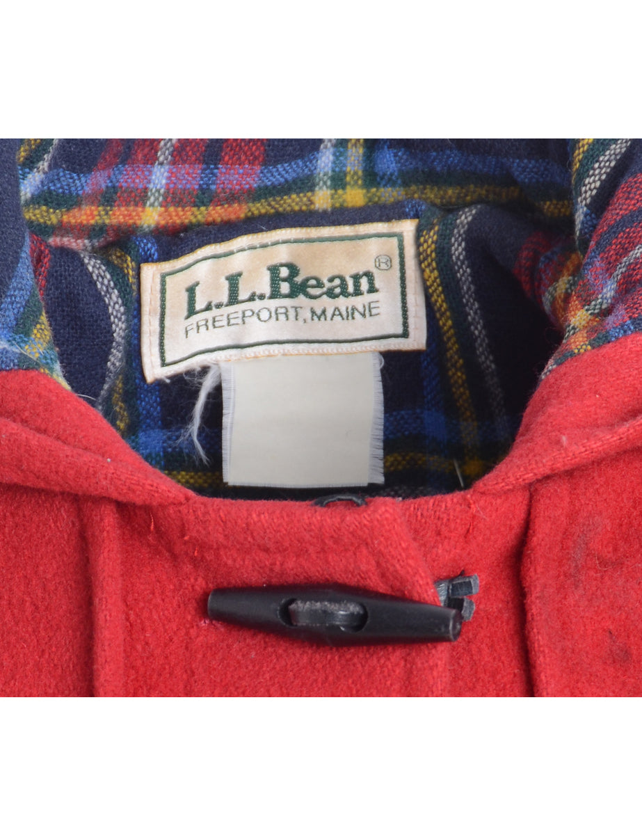 a58a66505cf9 Women s L.L. Bean Red L.L. Bean Duffle Coat Red