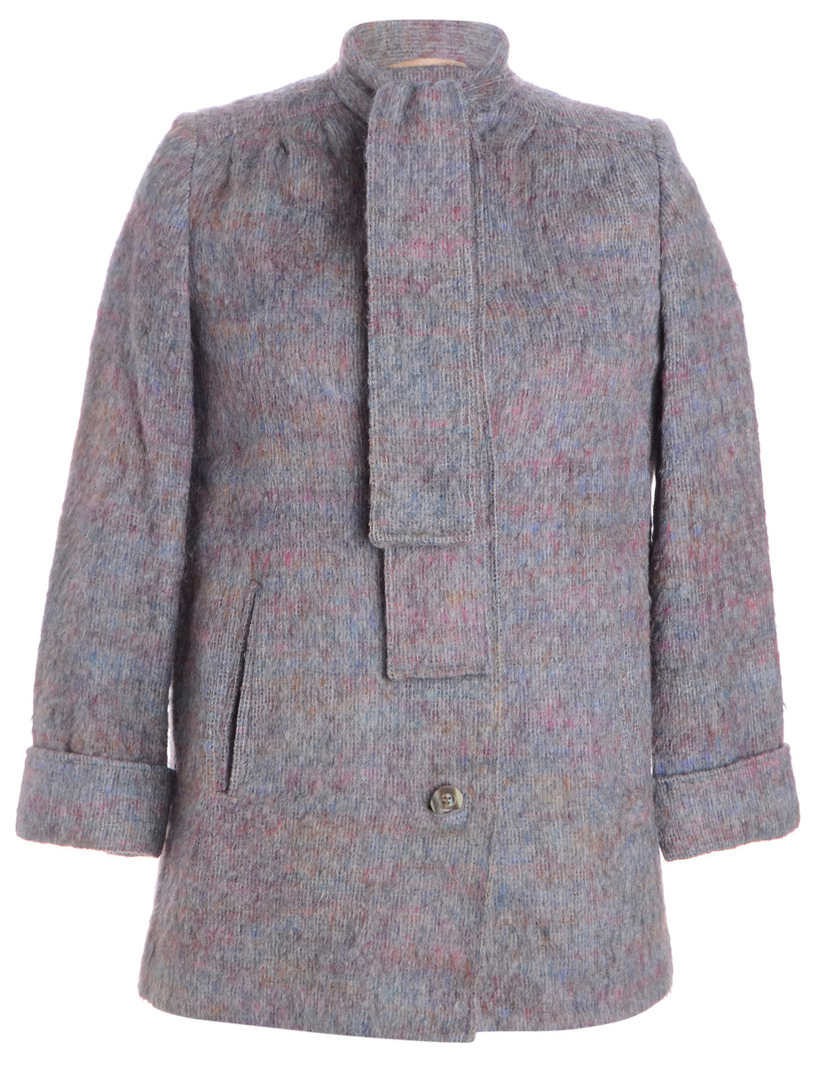 Beyond Retro Label Single Breasted Wool Coat