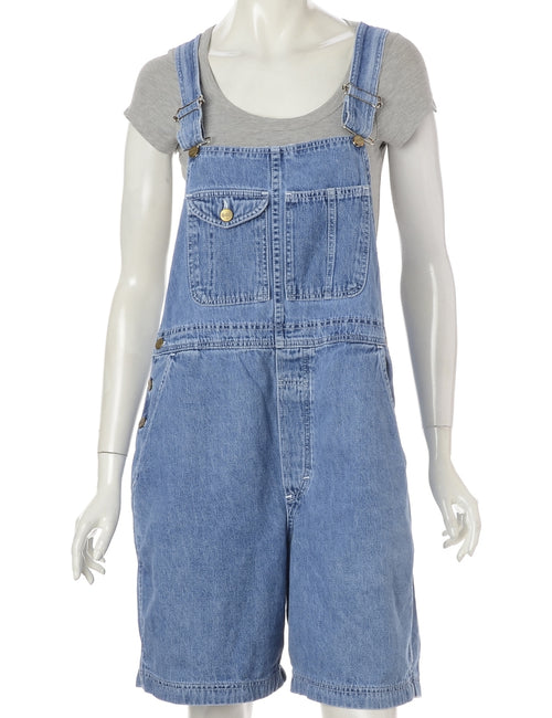 Straight Leg Cropped Dungarees