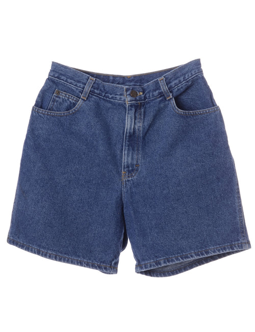 Tapered Denim Shorts