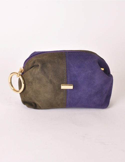 Two Tone Suede Pouch