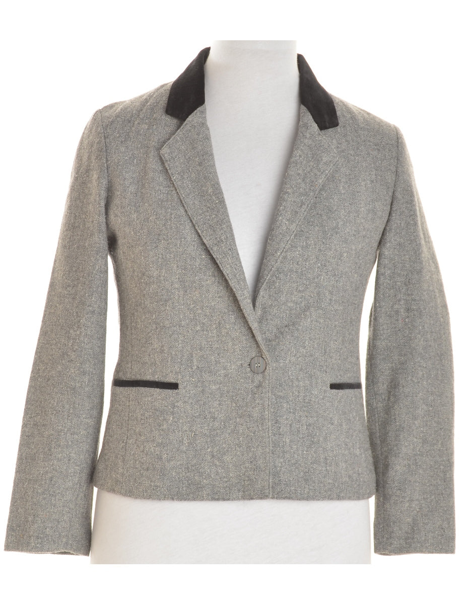 Beyond Retro Label Woollen Blazer