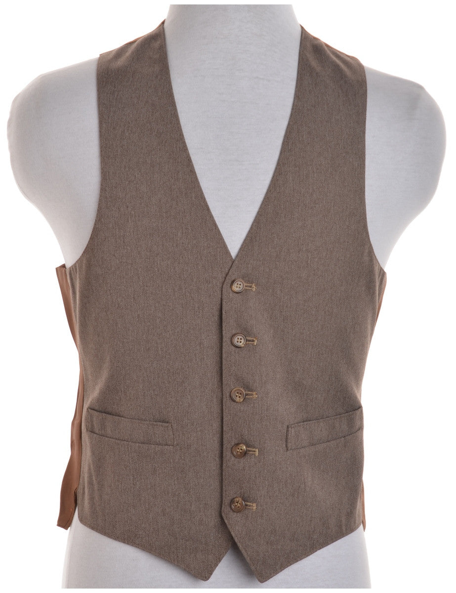 Waistcoat Brown With Full Lining