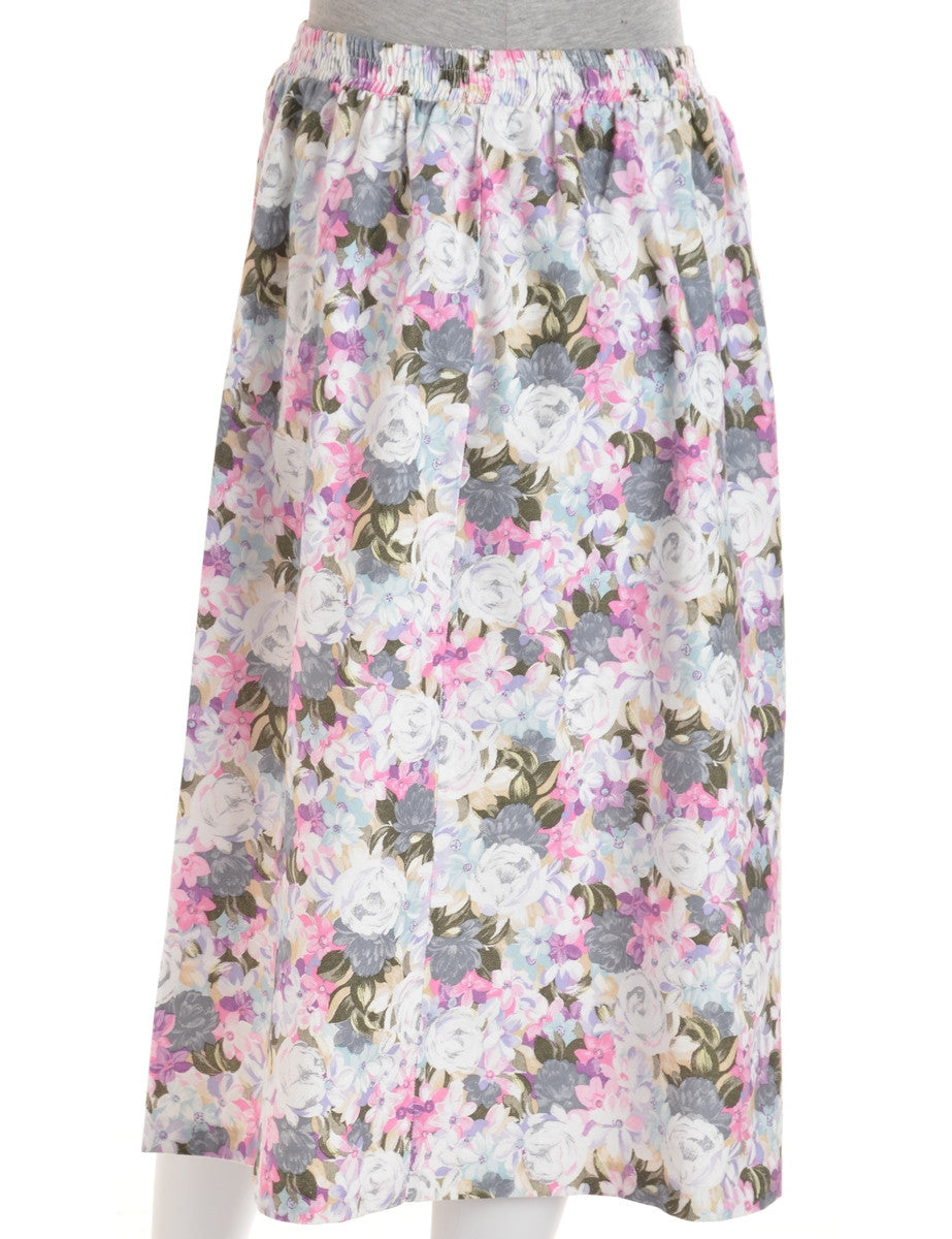 Midi Skirt Multi-colour With An Elasticized Waist