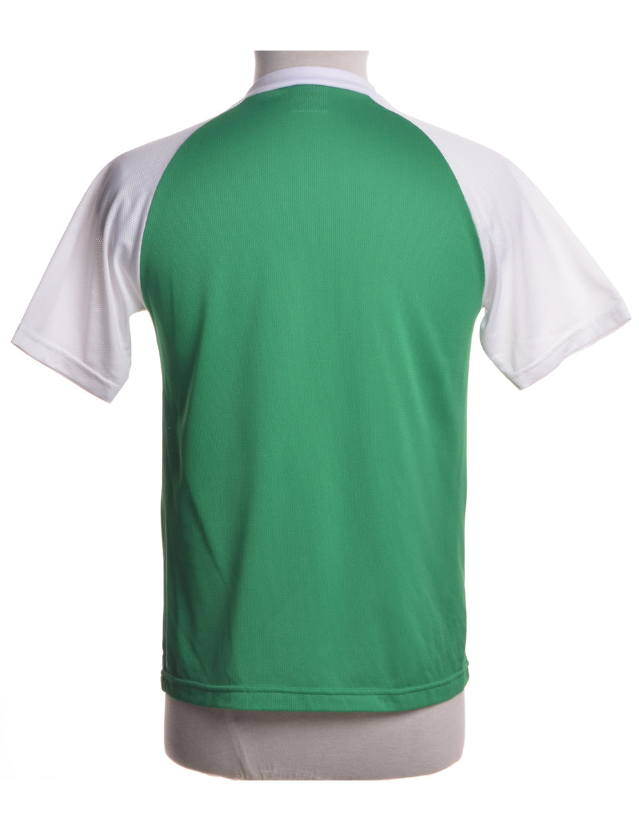 Green College Basebell T-shirt - T-shirts - Beyond Retro