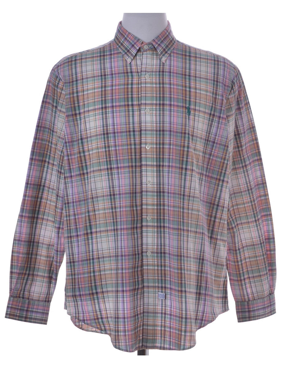 Checked Shirt Multi-colour With A Button Down Collar
