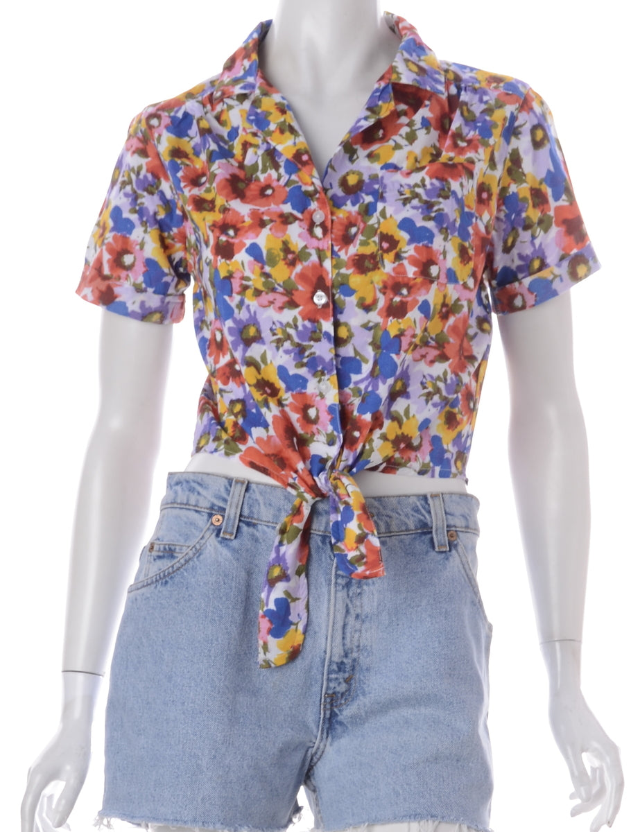 Label Peggy S/S Print Tie Blouse
