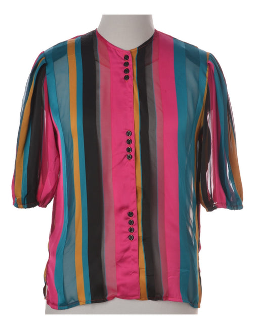 Blouse Multi-colour With Removable Shoulder Pads