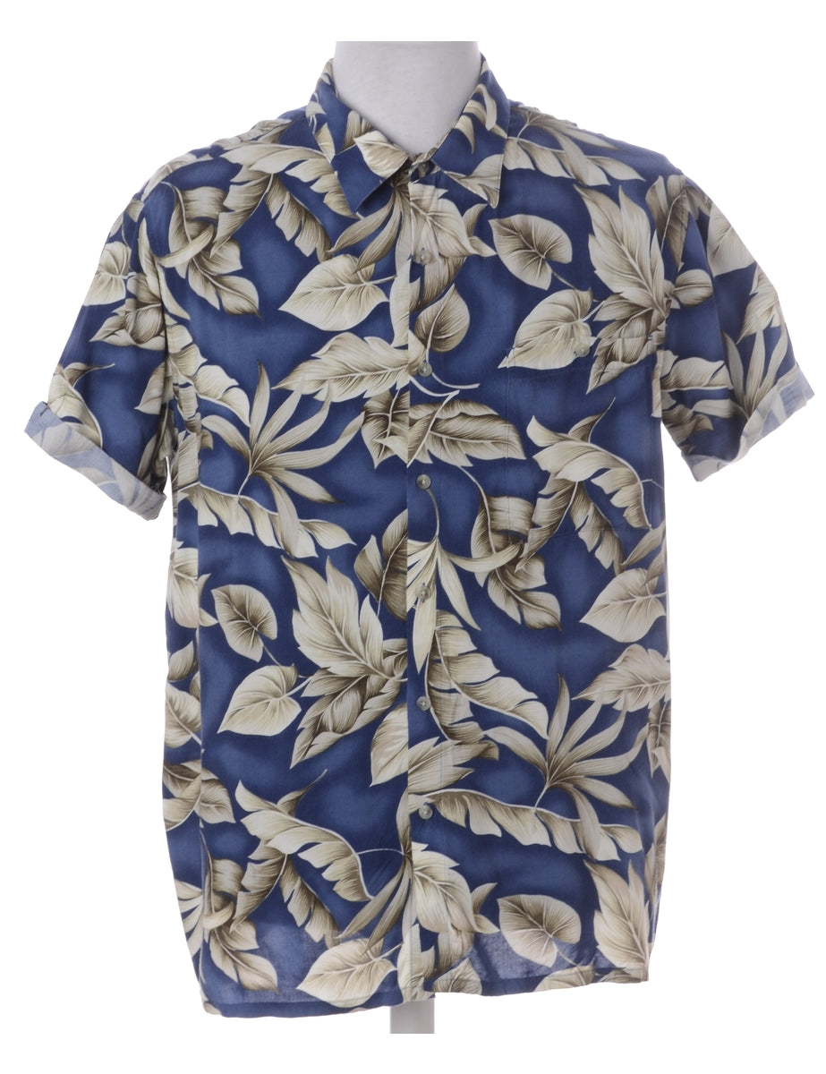 Label Harvey Roll Sleeve Hawaiian Shirt