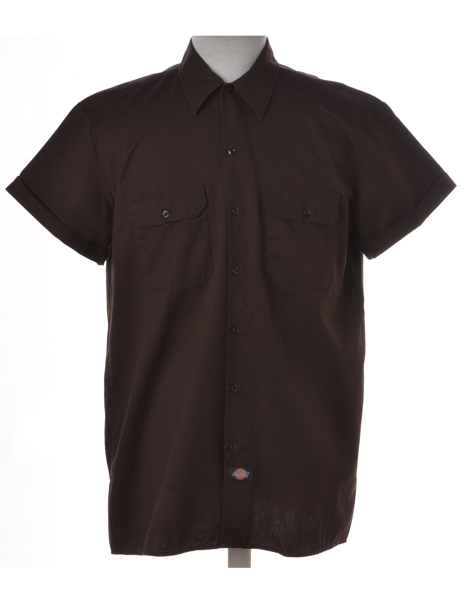 Label Dark Brown Upcycled Dickies Shirt