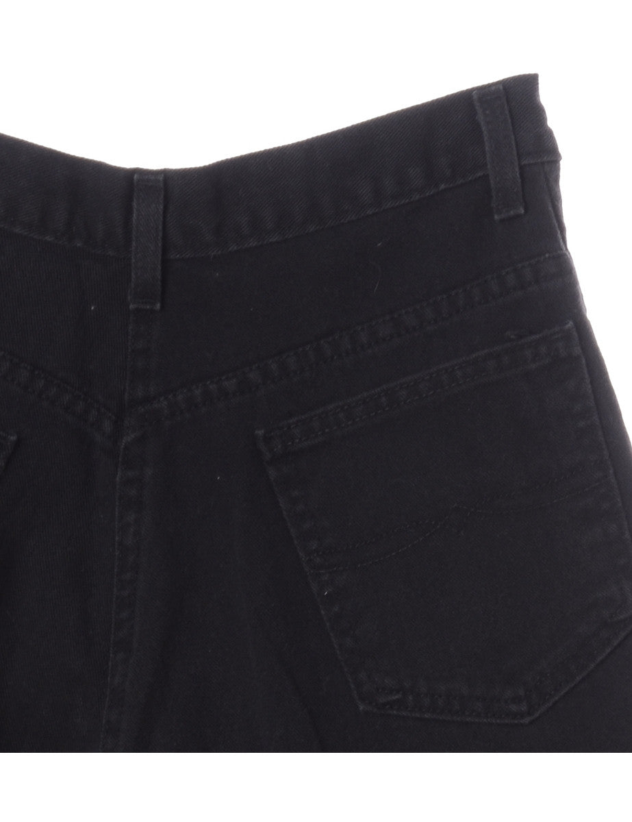 Denim Shorts Black With Pockets