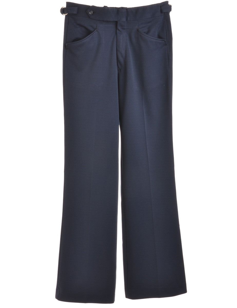 Smart Trousers Navy With Multiple Pockets