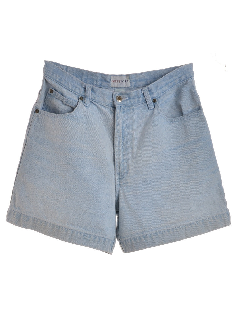 Denim Shorts Unfaded With Multiple Pockets