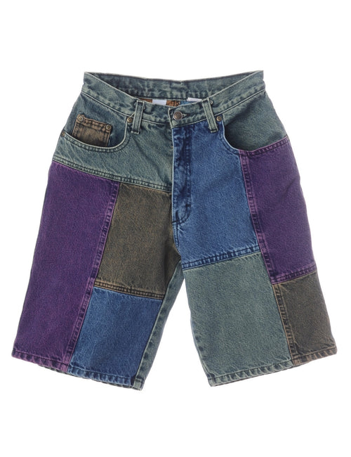 Denim Shorts Multi-colour With Multiple Pockets