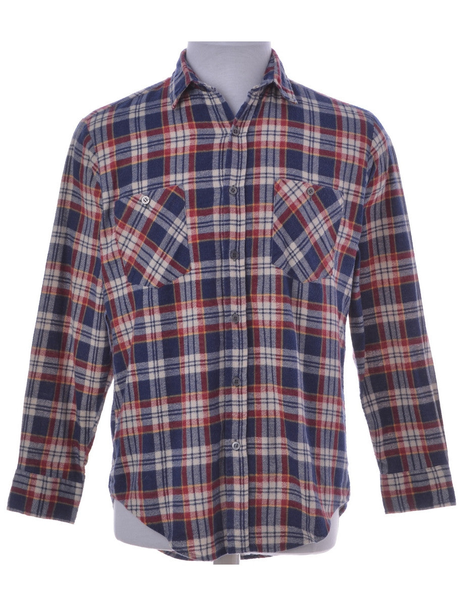 Checked Shirt Multi-colour With Two Pockets