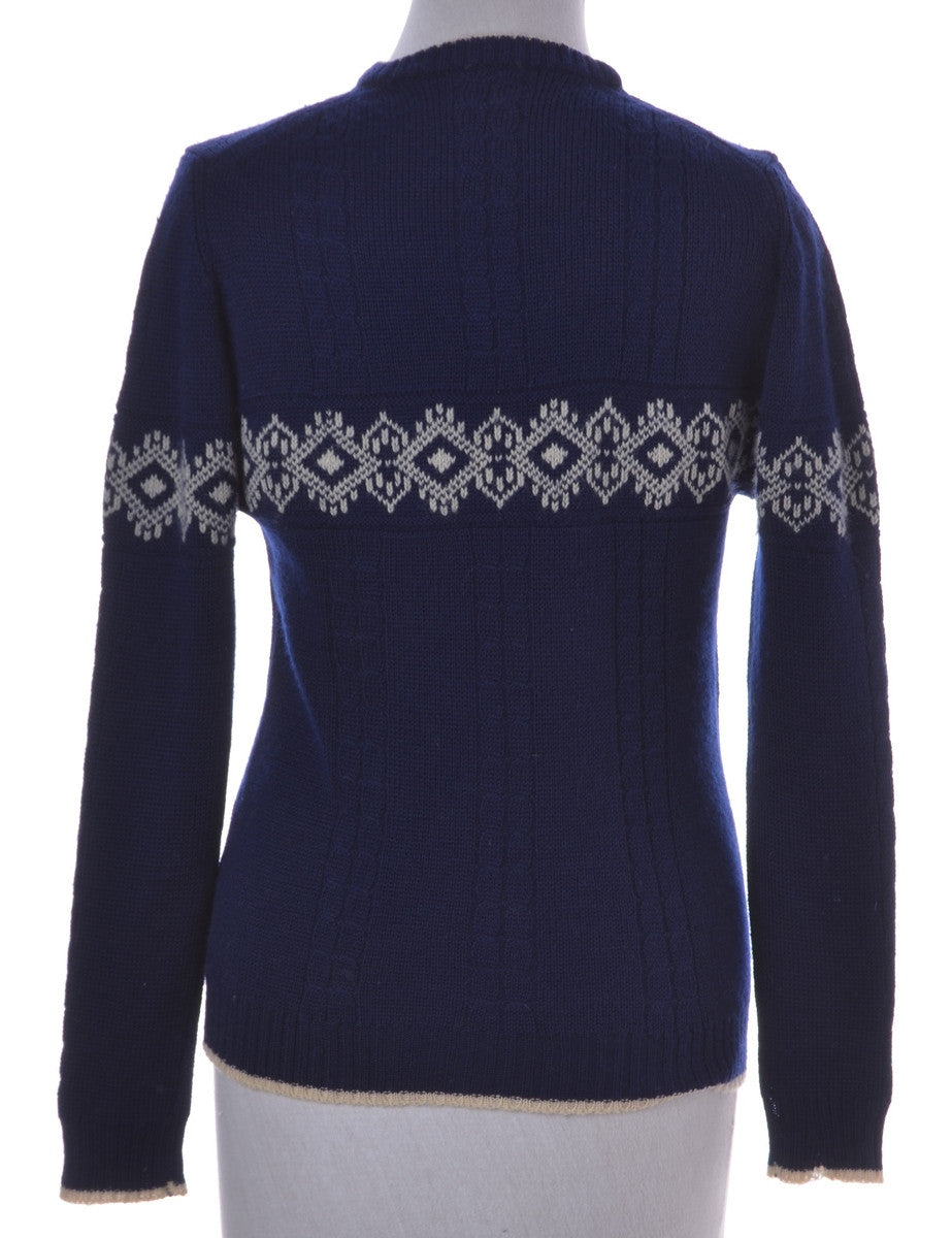 Vintage Jumper Navy With A Crew Neck