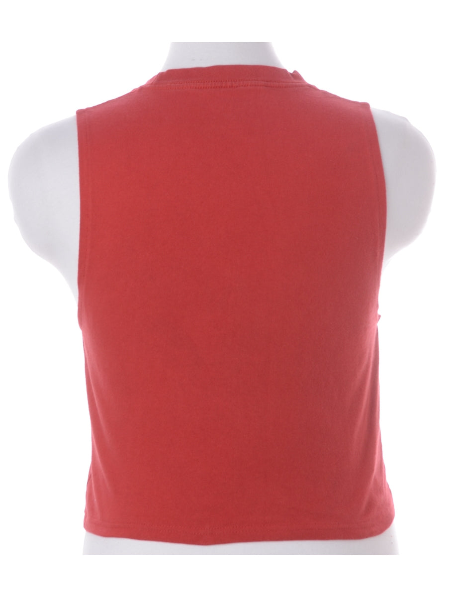 Label Polly Cropped Sports T Vest