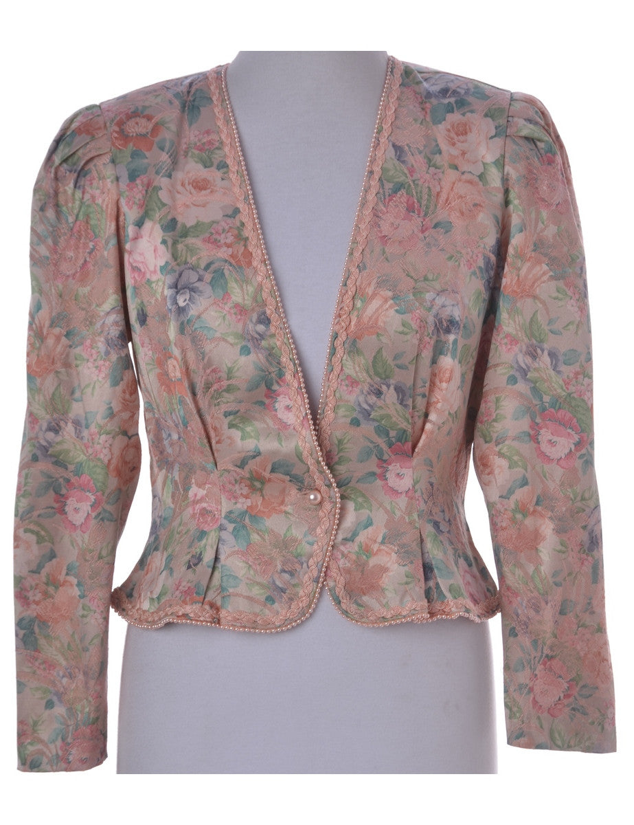 Evening Jacket Multi-colour With Beading
