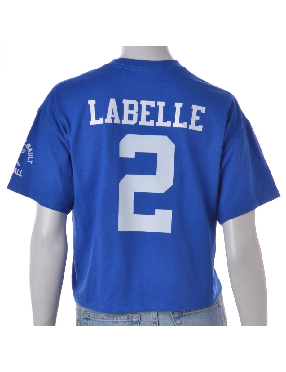 Label Cropped Sports T-shirt