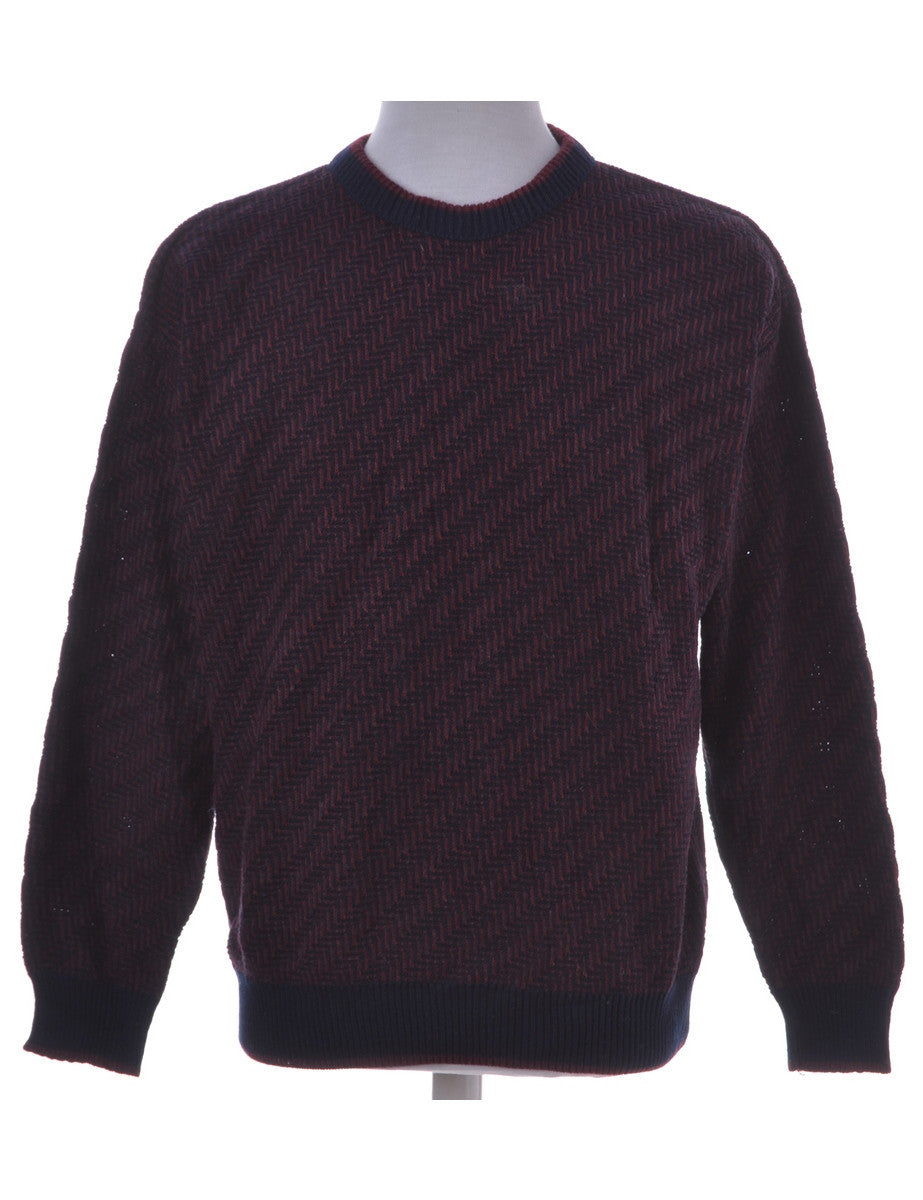 Jumper Burgundy With A Crew Neck