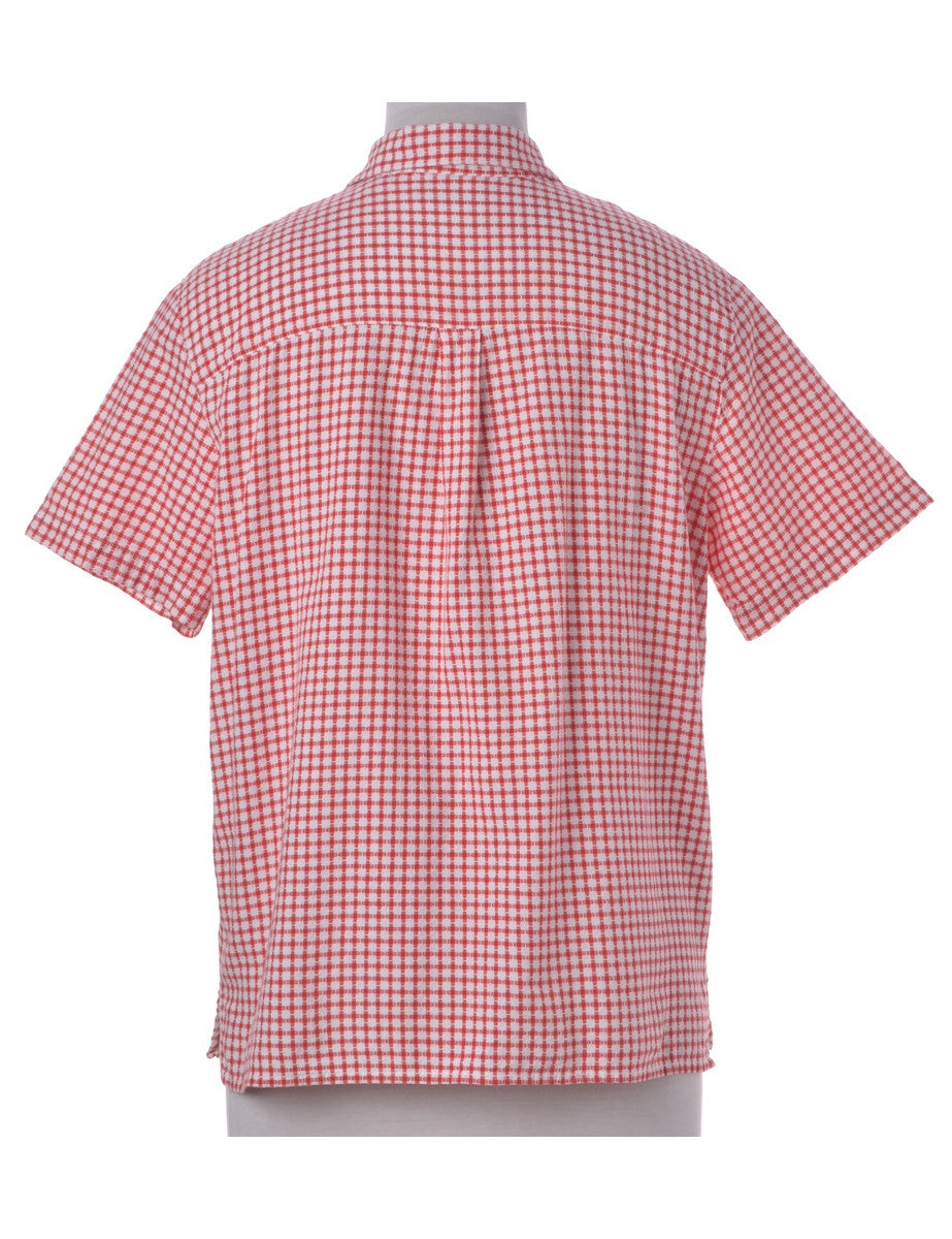 Shirt Red With One Pocket