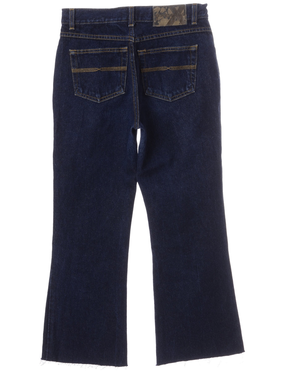 Label Carly Denim Cropped Frayed Jeans
