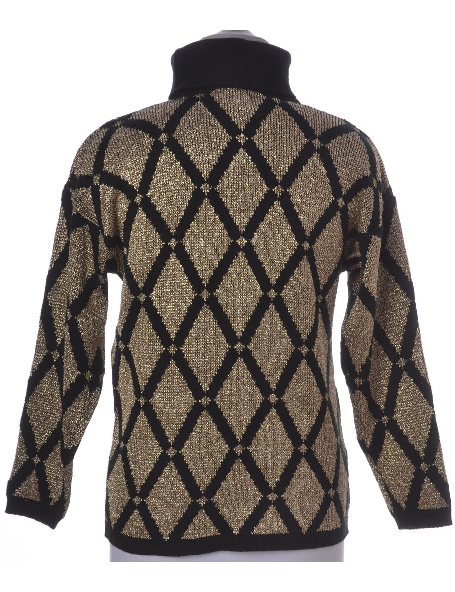 Lurex Thread Pattern Jumper