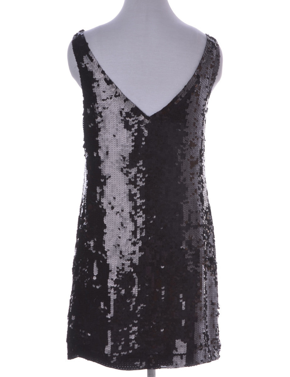 Party Dress Black With A Low Back Neckline