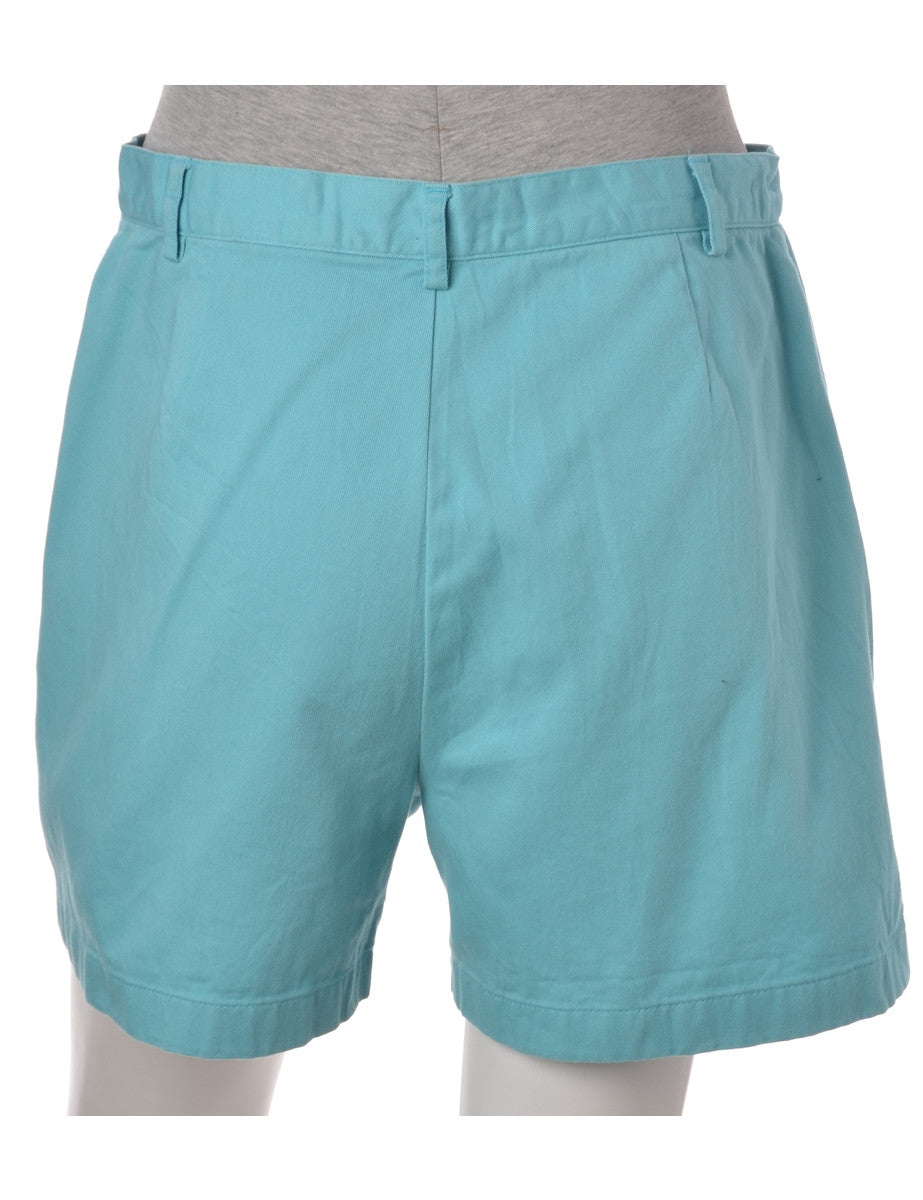 Denim Shorts Aqua Blue With Pockets