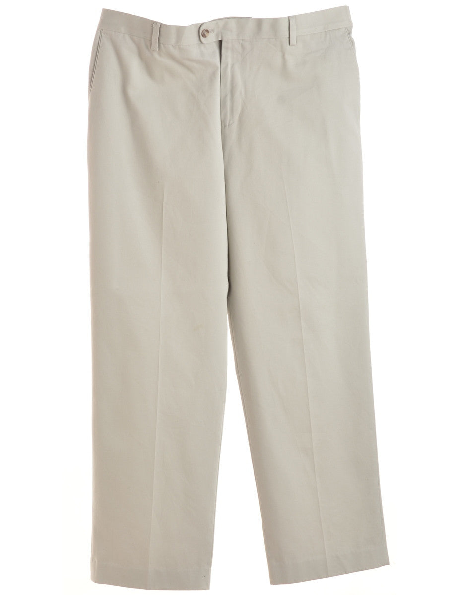 Smart Trousers Off White With Pockets
