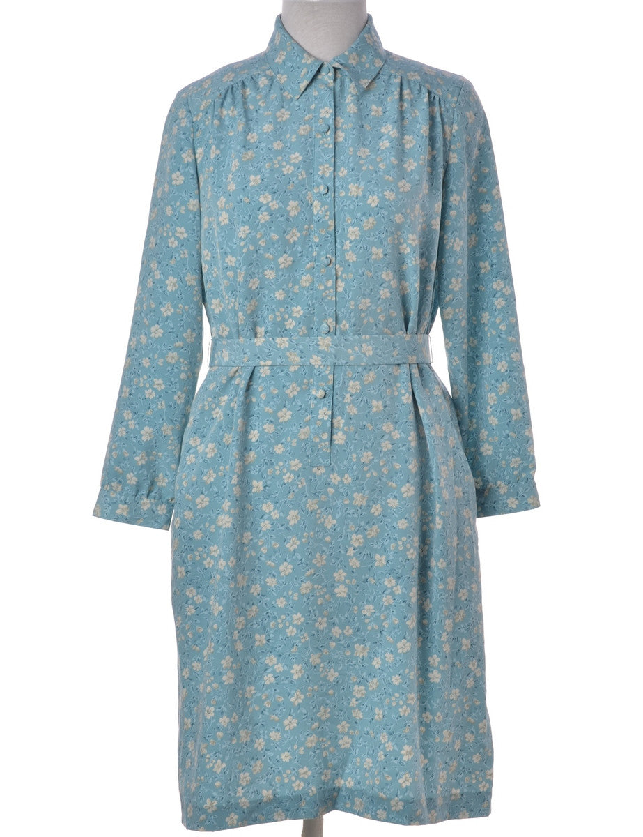 Shirt Dress Light Blue With Back Tie