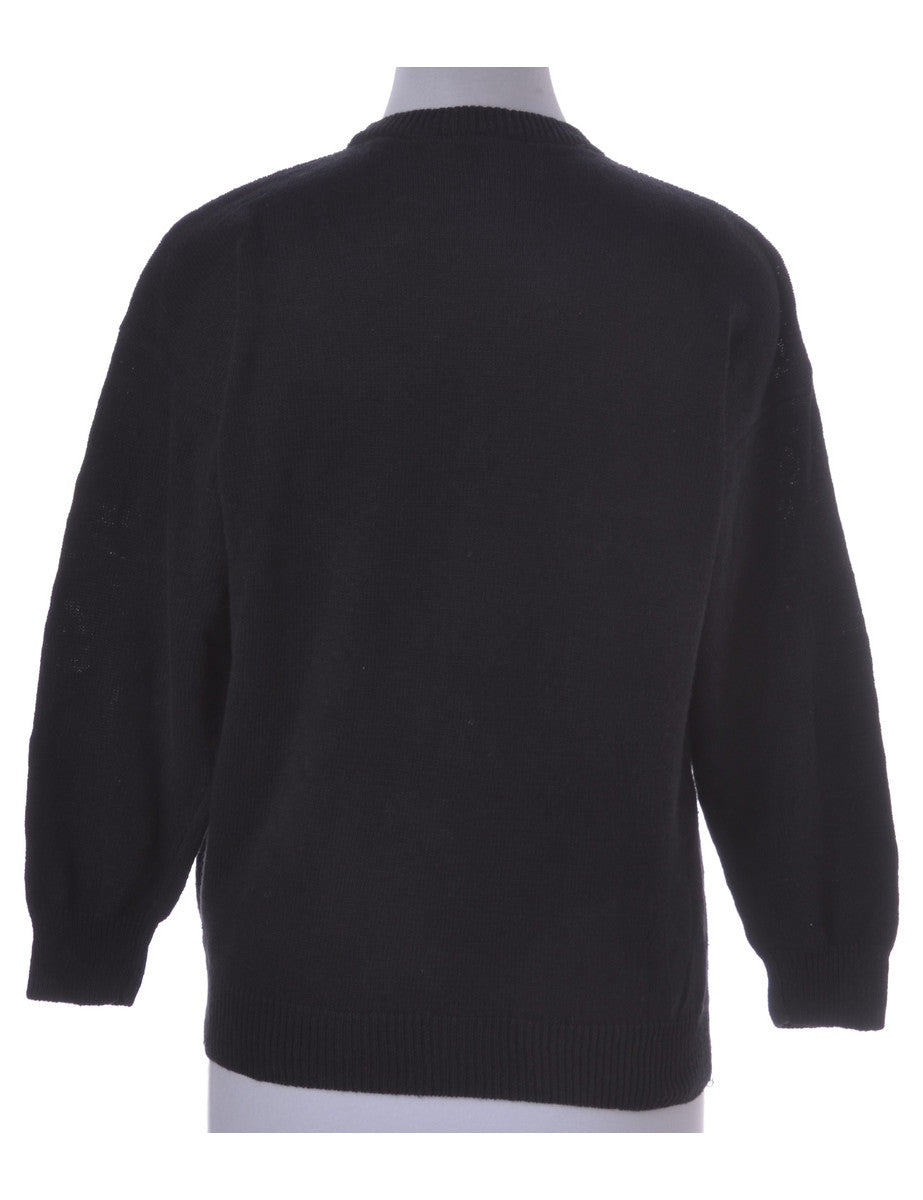 Jumper Black With Beading