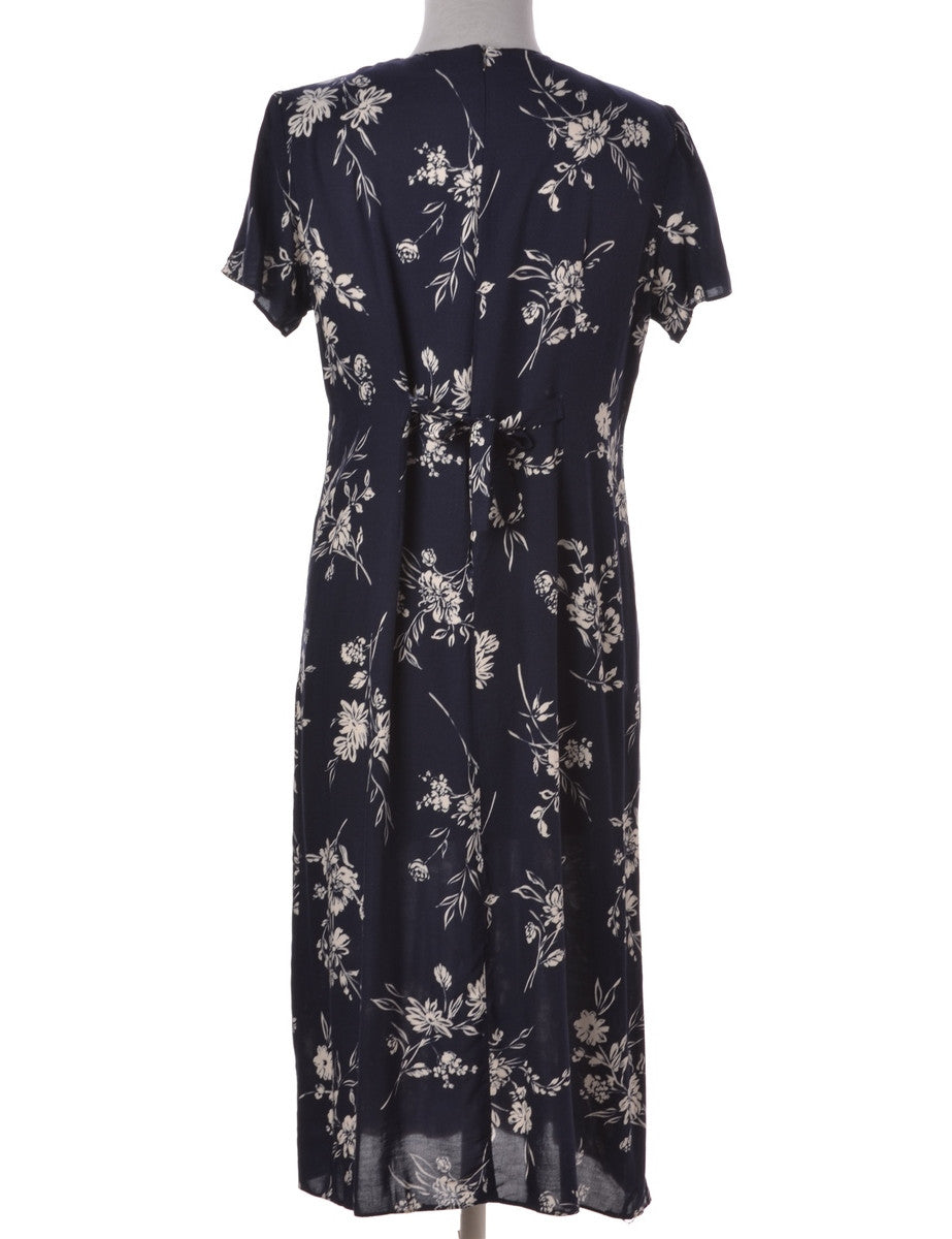 Day Dress Navy With Pin Tucks