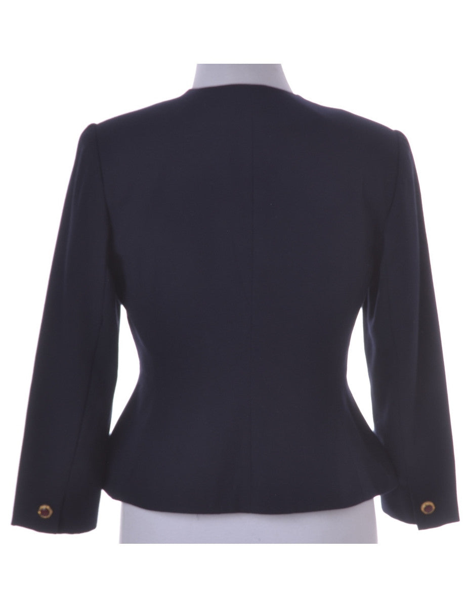 Casual Jacket Navy With Contrasting Panels