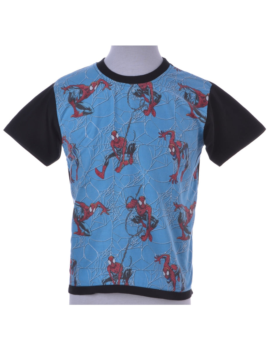 Blue Cartoon T-shirt