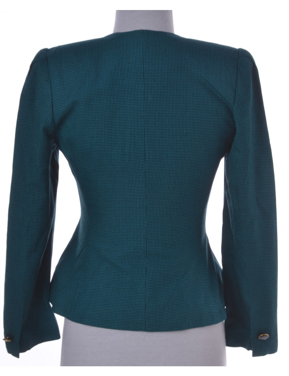 Casual Jacket Green With Removable Shoulder Pads