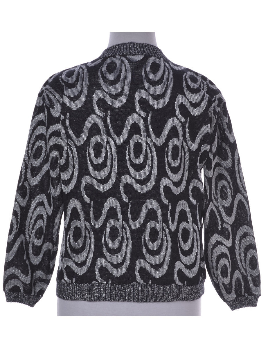 Jumper Black With A High Neck