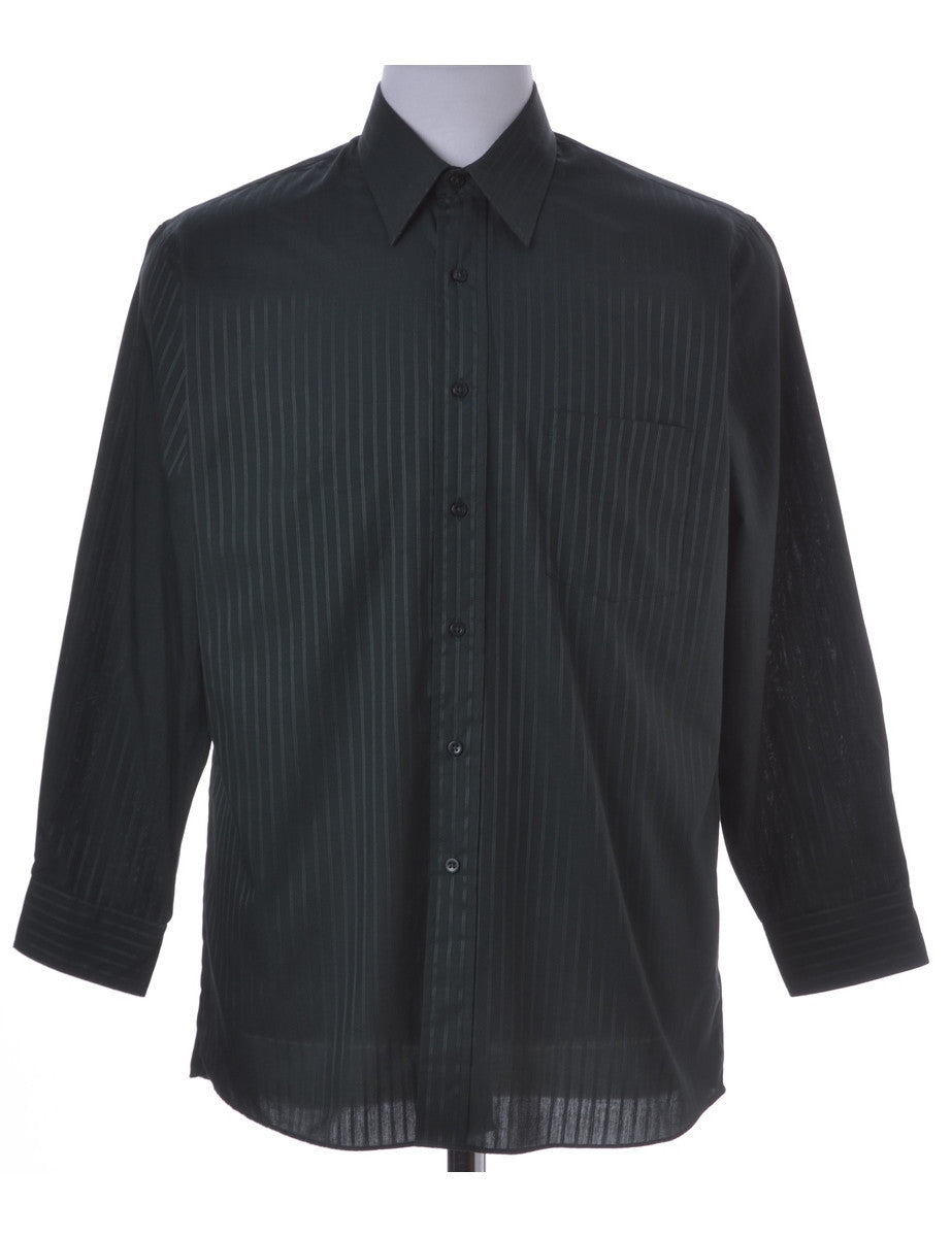 Casual Shirt Dark Green With One Pocket