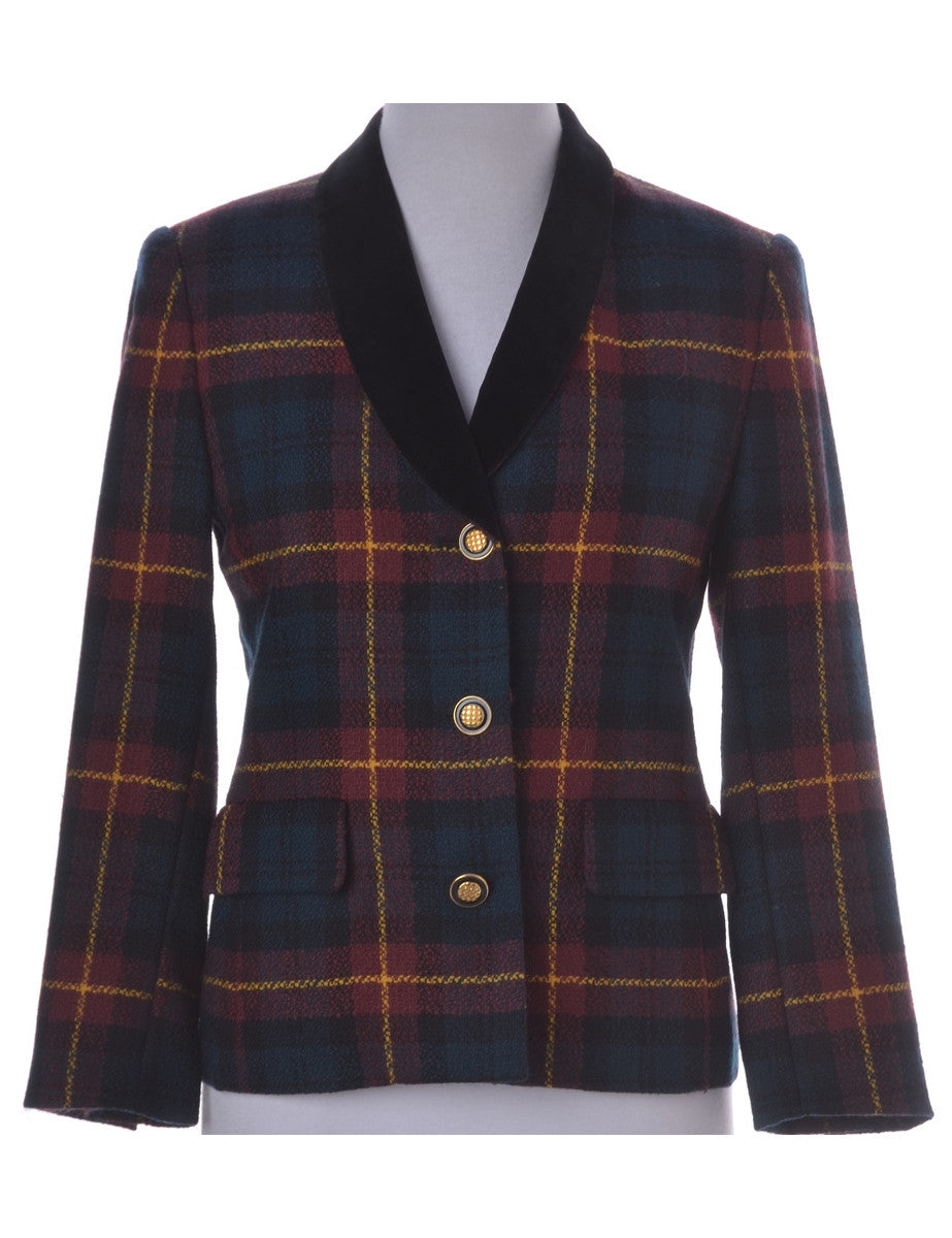 Casual Jacket Multi-colour With Contrasting Fabric Trim