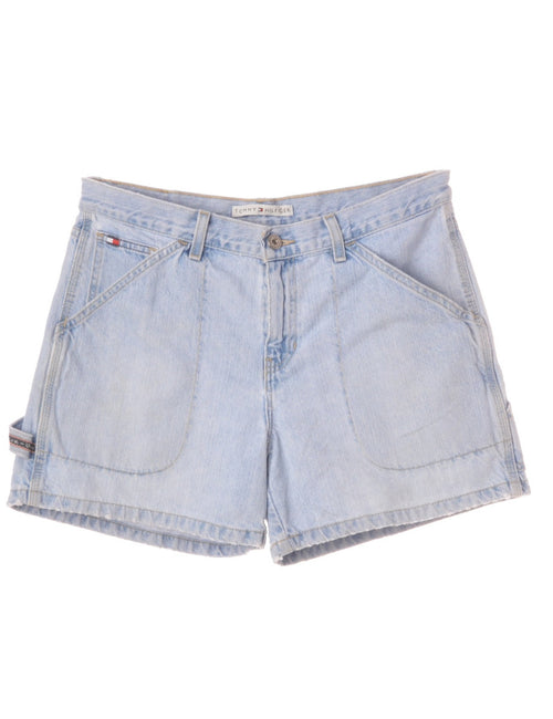 Denim Shorts Light Wash With Pockets
