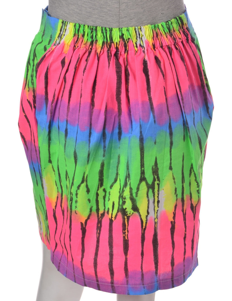 Mini Skirt Multi-colour With An Elasticized Back