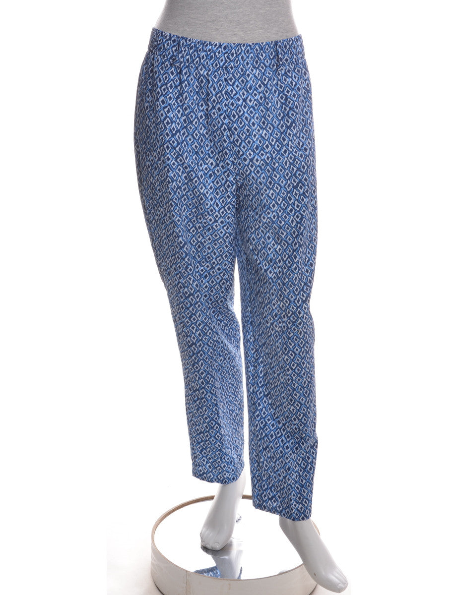 Casual Trousers Blue With Pockets