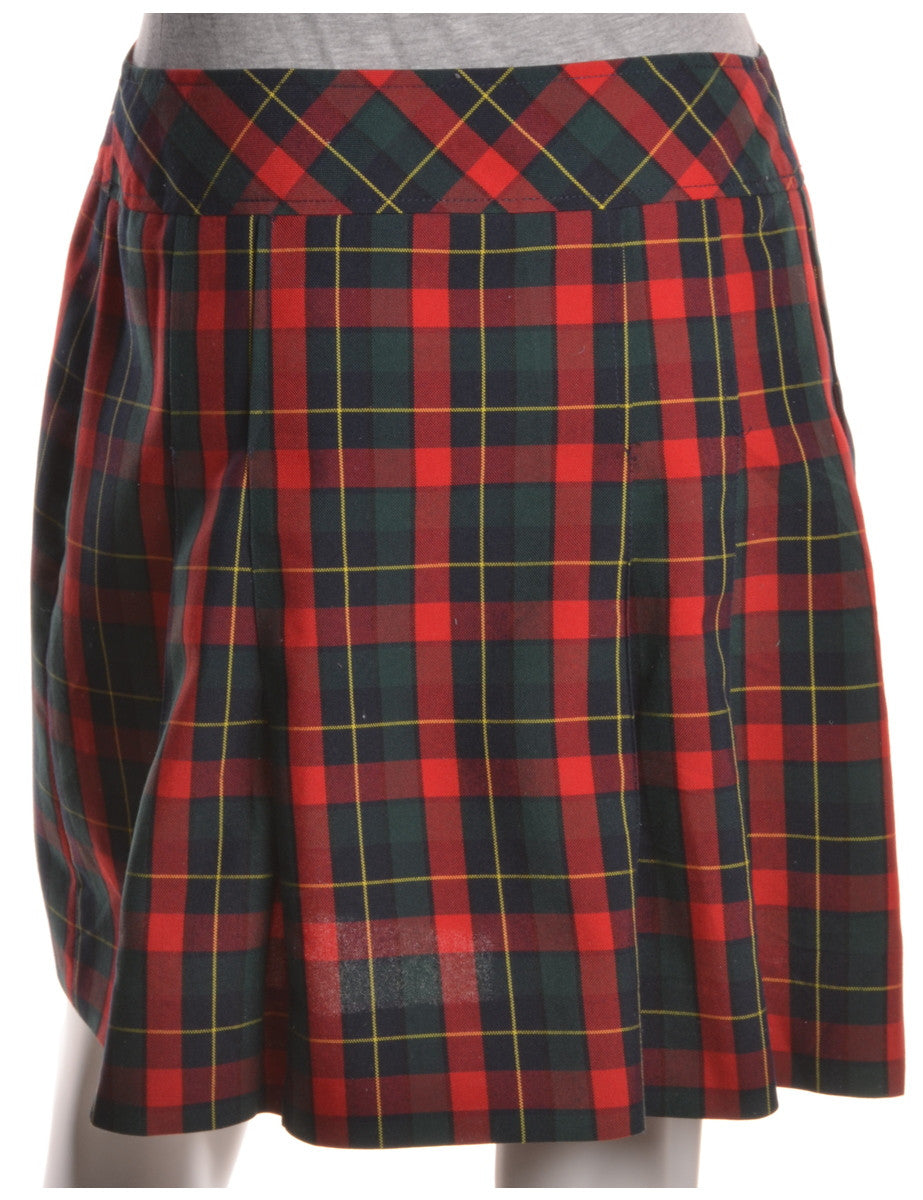 Mini Skirt Red With Two Pockets