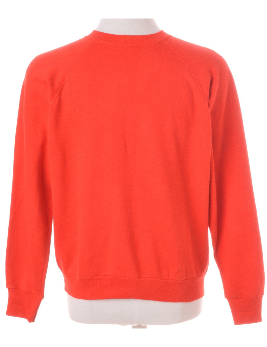 Cartoon Sweatshirt Red With A Round Neck